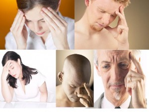 People with headaches