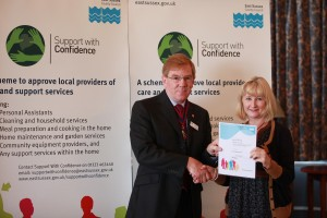 ESCC Trading Standards Buy With Confidence Scheme and Support With Confidence Trader Ceremony for November 2011